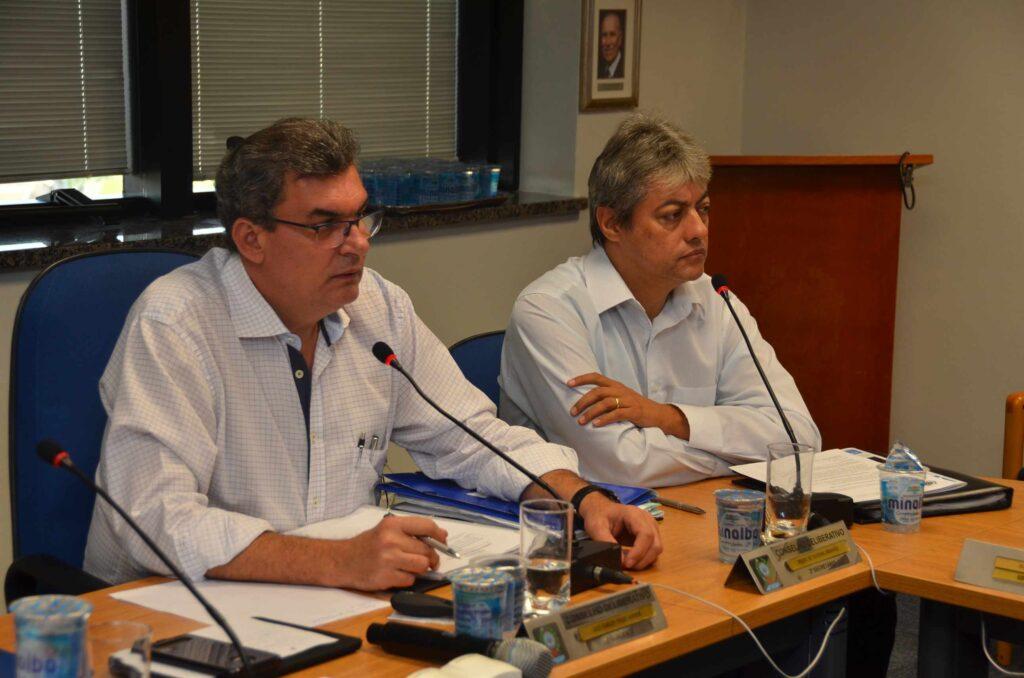 Luiz Carlos Toloi Jr. (presidente do Conselho) e Pedro de Oliveira Abrahão (2º secretário)