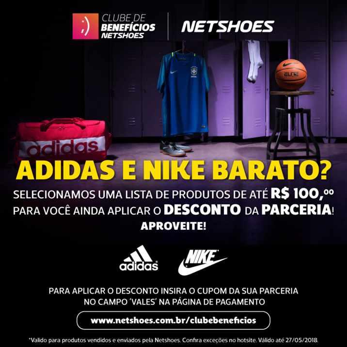 748bb974a Netshoes  produtos Nike e Adidas por até R 100